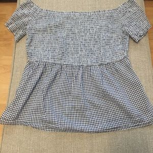 Old navy black and white gingham top